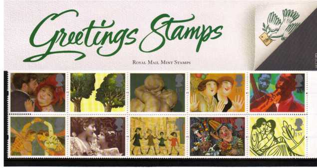 Stamp Image: view larger back view image for Greetings Stamps - Greetings in Art<br/><br/>