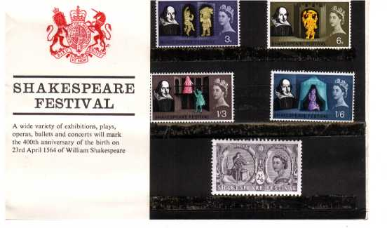 Stamp Image: view larger back view image for Shakespeare Festival
