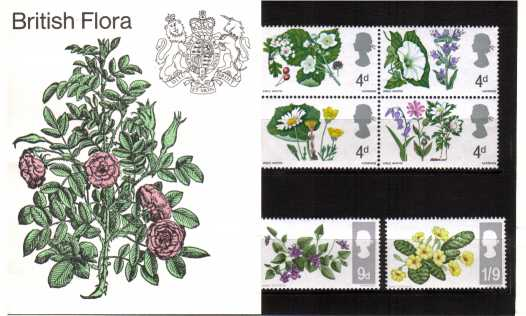 Stamp Image: view larger back view image for British Flowers - Phosphor