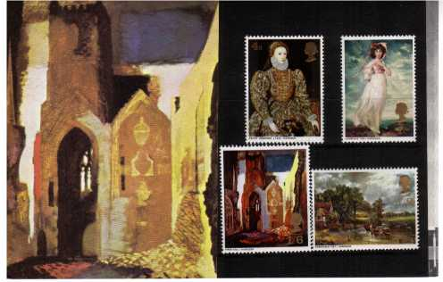 Stamp Image: view larger back view image for British Paintings