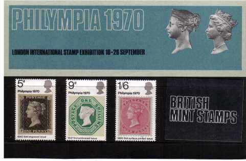 Stamp Image: view larger back view image for PHILYMPIA 1970 stamp exhibition