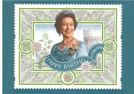 view larger image for PHQ No.D11 (1996) - H M The Queen - Seventieth Birthday label