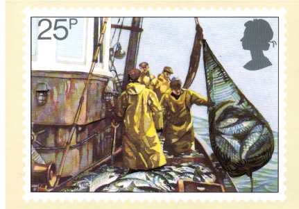 view larger image for PHQ No.55 (1981) - Fishing<br/>Set of four