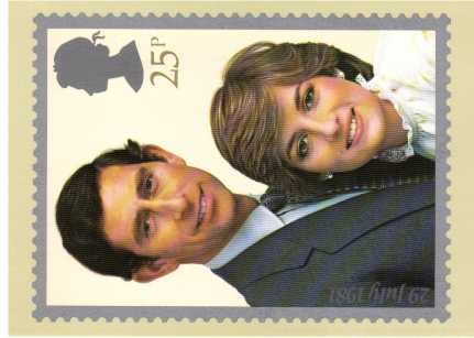 view larger image for PHQ No.53 (1981) - Charles - Diana Royal Wedding<br/>Set of two