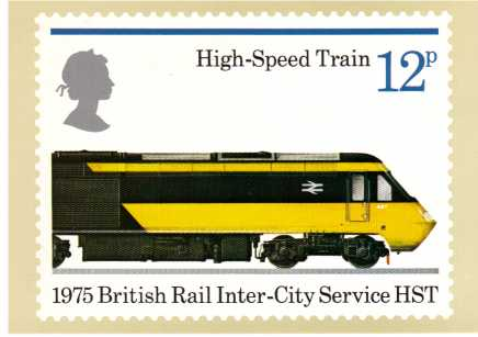 view larger image for PHQ No.12 (1975) - Trains<br/>Set of four cards
