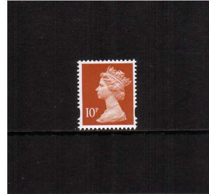 view larger image for SG Y1676a (13 Oct 1998) - 10p Dull Orange - Walsall - Photo<br/>2 Bands - Perforation 14