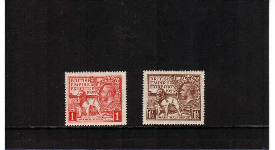 view larger image for SG 432-433 (1925) - 'Wembley' British Empire Exhibition set of two dated 1925