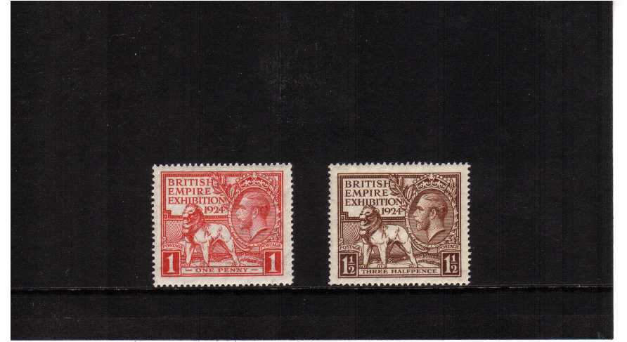 view larger image for SG 430-431 (1924) - 'Wembley' British Empire Exhibition set of two dated 1924