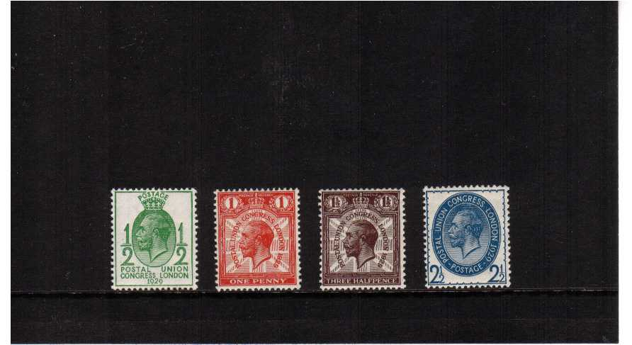 view larger image for SG 434-437 (1929) - Postal Union Congress 'low values' set of four