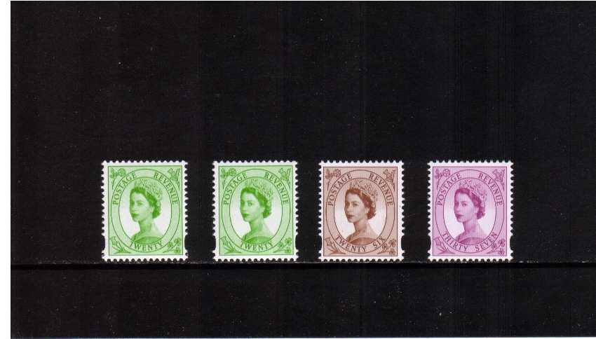 view larger image for SG 2031-2033 (1998) - Elizabeth II - Decimal 'Wilding' set of four (contains Left and Right band 20p's)