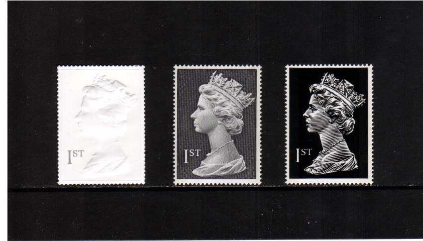 view larger image for SG 2077-2079 (1999) - Elizabeth II - 'Profile on Print' Machin Large Head set of three