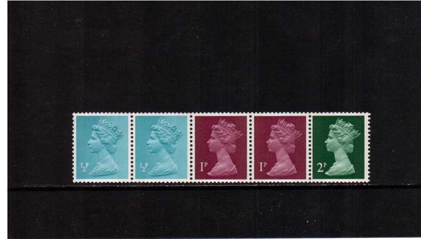 view larger image for SG X841n (15 Feb 1971) - 5p Multi-value coil strip of five - �p �p 1p 1p 2p