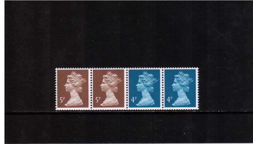 view larger image for SG X933m (1 Oct 1991) - 18p Multi-value coil strip of five - 4p 4p 5p 5p