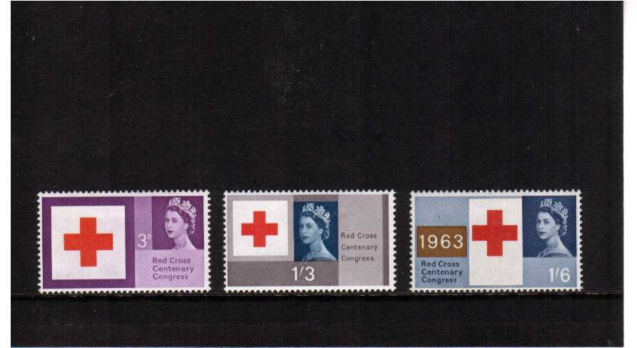 view larger image for SG 642-644 (1963) - Red Cross Centenary set of three
