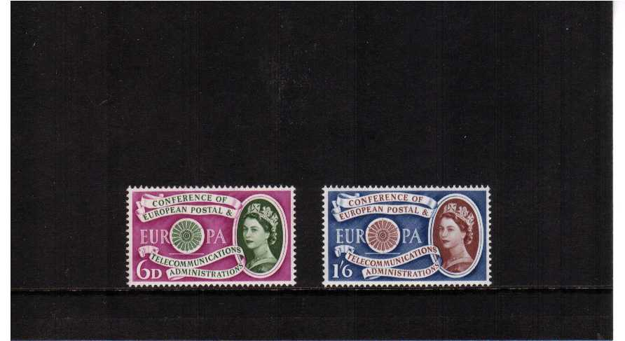 view larger image for SG 621-622 (1960) - EUROPA set of two