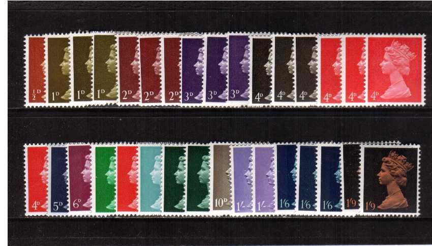 view larger image for SG 723-744Ev (1967) - Elizabeth II <br/>