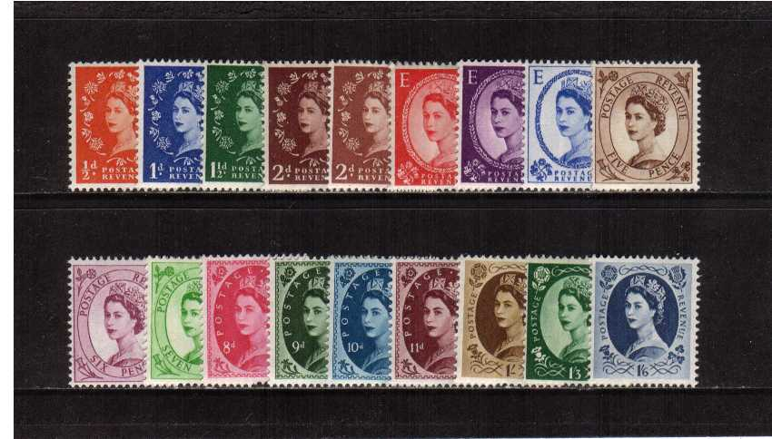 view larger image for SG 540-556 (1955) - Elizabeth II <br/>Wilding - Edward Crown Watermark<br/>