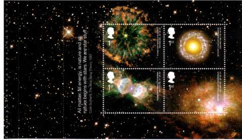 view larger image for SG MS2315a (24 Sept 2002) - Astronomy minisheet<br/>from Prestige Stamp Booklet (DX29)