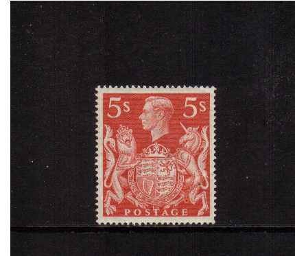 view larger image for SG 477 (1939) - 5/- Red