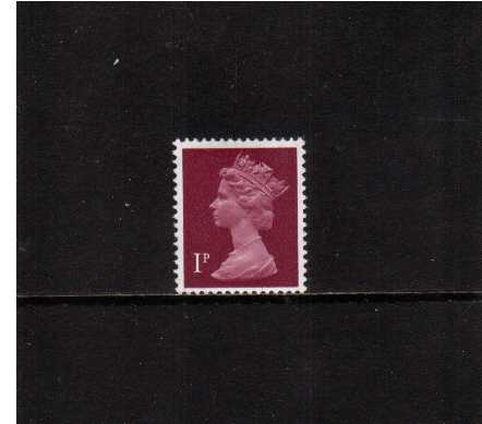 view larger image for SG X844Ey (1971) - 1p Crimson with PHOSPHOR OMITTED<br/>A superb unmounted mint single
