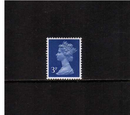 view larger image for SG X855Ey (1971) - 3p Ultramarine with PHOSPHOR OMITTED<br/>A superb unmounted mint single