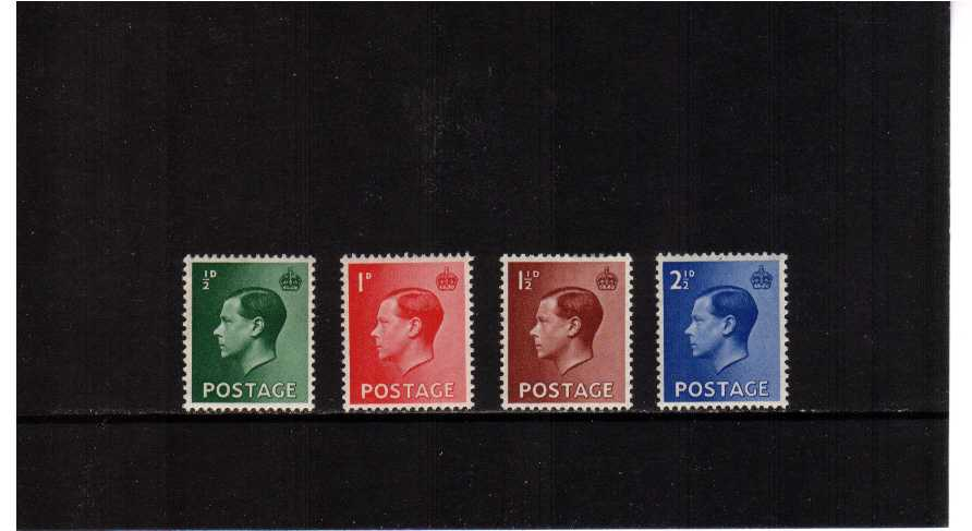 view larger image for SG 457-460 (1936) - Edward 8th <br/> Definitive set of four
