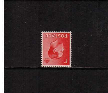 view larger image for SG 458Wi (1936) - 1d Scarlet with WATERMARK INVERTED
