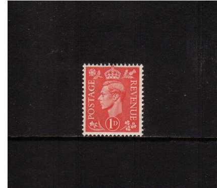 view larger image for SG 486 (1941) - 1d Pale Scarlet