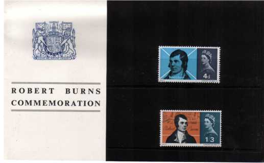 Stamp Image: view larger back view image for Robert Burns