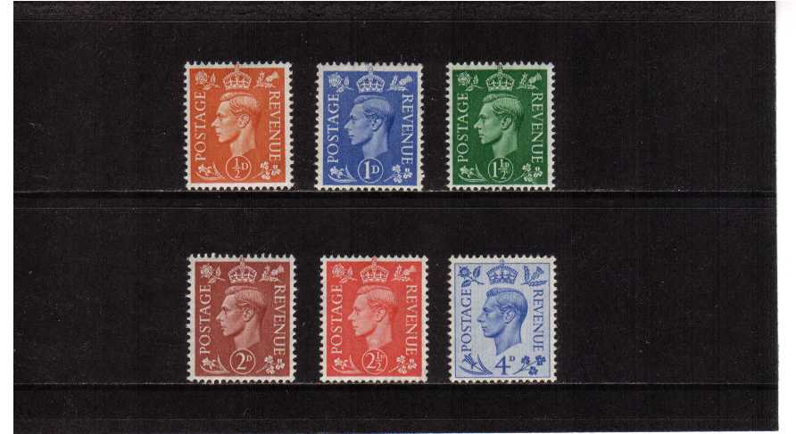 view larger image for SG 503-508 (1950) - George 6th <br/>'Colour Change' Definitive set of six