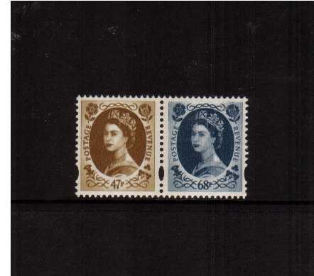 view larger image for SG 2378-2379 (2 June 2003) - 47p Bistre-Brown and 68p Grey-Blue in pair both 2 Bands from DX31. SG Cat �10