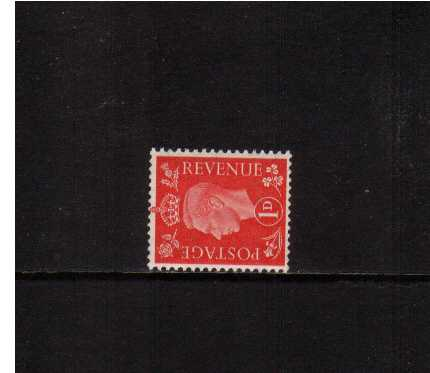 view larger image for SG 463a (1937) - 1d Scarlet with WATERMARK SIDEWAYS