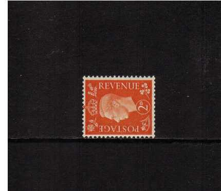 view larger image for SG 465a (1937) - 2d Orange with WATERMARK SIDEWAYS