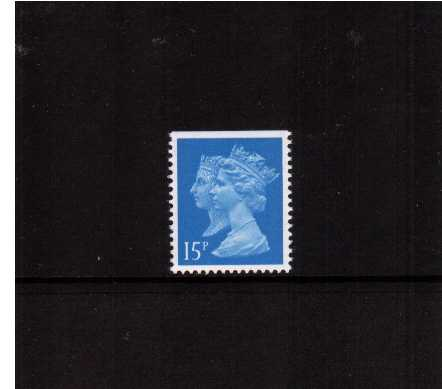 view larger image for SG 1467v (30 Jan 1990) - 15p Bright Blue - Harrison - Photogravure<br/>Perforation 15x14 - Centre Band - Imperforate at Top
