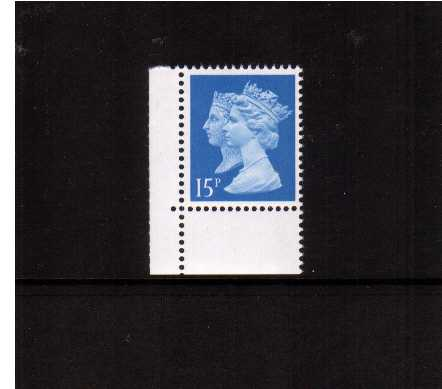 view larger image for SG 1468Ea (20 Mar 1990) - 15p Bright Blue - Harrison - Photogravure<br/>Perforation 15x14 - Right Band