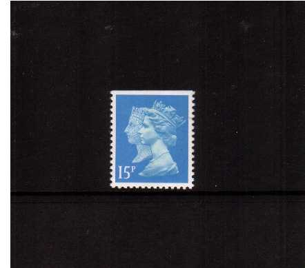 view larger image for SG 1475 (30 Jan 1990) - 15p Bright Blue - Walsall - Lithoography<br/> Perforation 14 - Centre Band<br/>Imperforate at Top