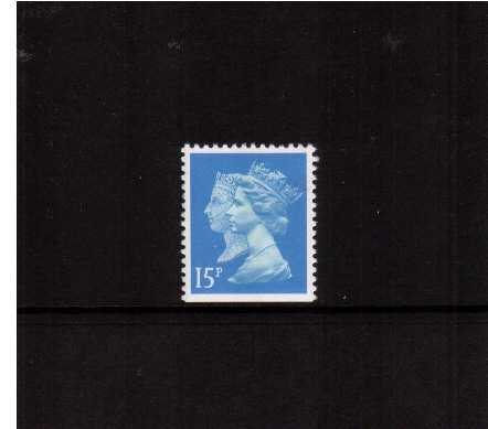view larger image for SG 1475v (30 Jan 1990) - 15p Bright Blue - Walsall - Lithography<br/>Perforation 14 - Centre Band<br/>Imperforate at Bottom
