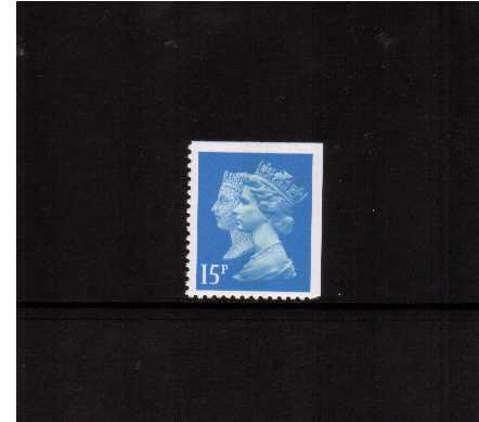 view larger image for SG 1475vv (30 Jan 1990) - 15p Bright Blue - Walsall - Lithography<br/>Perforation 14 - Centre Band<br/>Imperforate at Top & Right