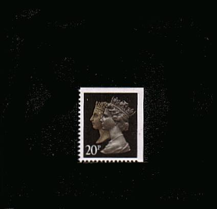 view larger image for SG 1469vvv (30 Jan 1990) - 20p Brownish Black & Cream - Harrison - Photogravure<br/>Perforation 15x14 - Phosphorised Paper<br/>Imperforate at Top & Right