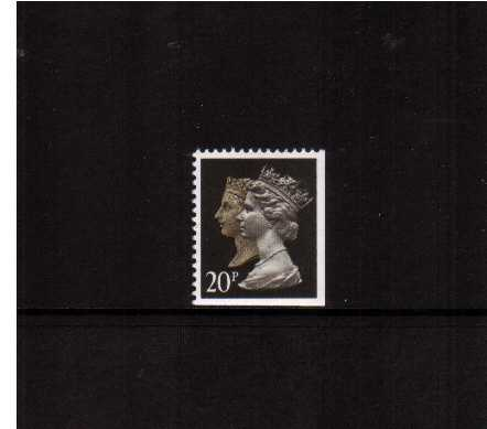 view larger image for SG 1469vvvv (30 Jan 1990) - 20p Brownish Black & Cream - Harrison - Photogravure<br/>Perforation 15x14 - Phosphorised Paper<br/>Imperforate at Bottom & Right