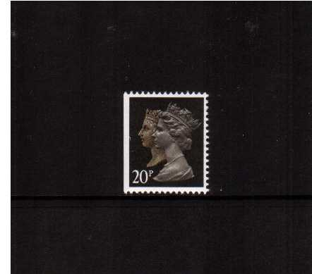 view larger image for SG 1469vvvvv (30 Jan 1990) - 20p Brownish Black & Cream - Harrison - Photogravure<br/>Perforation 15x14 - Phosphorised Paper<br/>Imperforate at Left