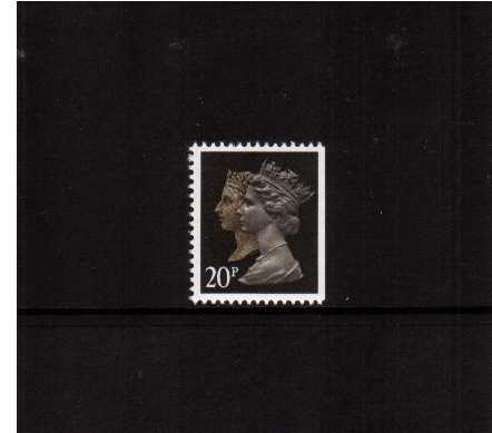 view larger image for SG 1469vvvvvv (30 Jan 1990) - 20p Brownish Black & Cream - Harrison - Photogravure<br/>Perforation 15x14 - Phosphorised Paper<br/>Imperforate at Right