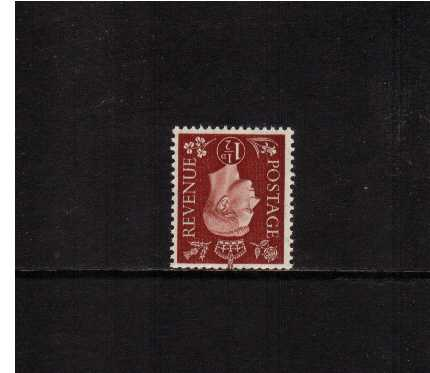 view larger image for SG 464Wi (1937) - 1�d Red-Brown with WATERMARK INVERTED