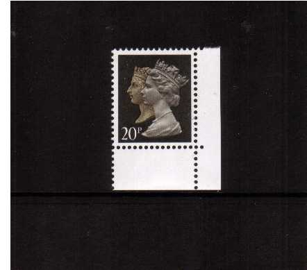 view larger image for SG 1470 (30 Jan 1990) - 20p Brownish Black & Cream - Harrison - Photogravure<br/>Perforation 15x14 - 2 Bands