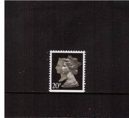 view larger image for SG 1476v (30 Jan 1990) - 20p Brownish Black & Cream - Walsall - Lithography<br/>Perforation 14 - Phosphorised Paper<br/>Imperforate at Bottom