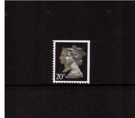 view larger image for SG 1476vv (30 Jan 1990) - 20p Brownish Black & Cream - Walsall - Lithography<br/>Perforation 14 - Phosphorised Paper<br/>Imperforate at Top & Right