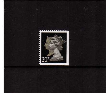 view larger image for SG 1476vvv (30 Jan 1990) - 20p Brownish Black & Cream - Walsall - Lithography<br/>Perforation 14 - Phosphorised Paper<br/>Imperforate at Bottom & Right