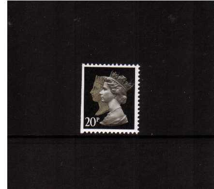 view larger image for SG 1476vvvv (30 Jan 1990) - 20p Brownish Black & Cream - Walsall - Lithography<br/>Perforation 14 - Phosphorised Paper<br/>Imperforate at Left