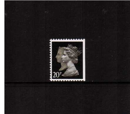 view larger image for SG 1476vvvvv (30 Jan 1990) - 20p Brownish Black & Cream - Walsall - Lithography<br/>Perforation 14 - Phosphorised Paper<br/>Imperforate at Right