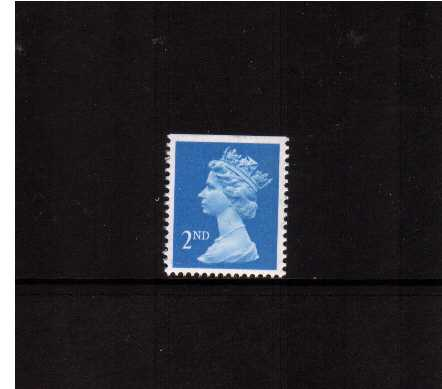 view larger image for SG 1445 (22 Aug 1989) - 2nd Class - Bright Blue - Harrison - Photogravure<br/>Perforation 15x14 - Centre Band<br/>Imperforate at Top
